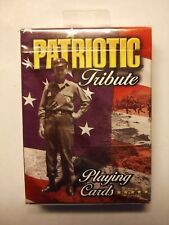 Patriotic Tribute Playing Cards, Military Heroic Veterans New & Sealed