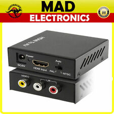 HDMI Input To Stereo Composite RCA Y/R/W AV Output Video Audio Converter