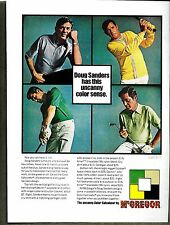 1970 VINTAGE McGREGOR GOLF CLOTHING DOUG SANDERS PRINT AD