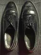 VINTAGE MENS SHOES BLACK DEXTER WING TIPS GENTLY USED SIZE 11D  MADE IN USA