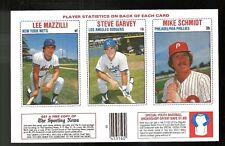 Lee Mazilli & Steve Garvey & Mike Schmidt 1979 Hostess 3-Player Baseball Panel