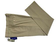Pantalone classico estivo uomo Mancinelli, beige DROP 6 in fresco lana, -70%.