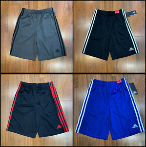 adidas Youth Boy Shorts Size S 8, M 10/12, L 14/16, XL 18/20 New