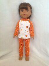 Fit Wellie Wishers American Girl 14.5 doll clothes Halloween pajamas pumpkins