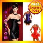 CC19 Sequin Burlesque Satin Vegas Moulin Rouge Showgirl Corset Tutu Costume