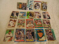 Matt Williams 19 card lot 1988-2002 San Francisco Giants,Indians,Diamondbacks