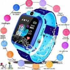 Kids Q12 Smart Phone Watch Waterproof Smart Watch Dial Voice Cute Chat Call S1J5