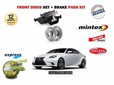 FOR LEXUS IS250 IS300H HYBRID 2013 > NEW FRONT BRAKE DISCS SET + DISC PADS KIT