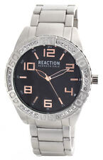Kenneth Cole Reaction Unisex Black Dial Stainless Steel Bracelet Watch 10031250