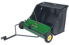 Yard Tow Behind Lawn Sweeper Adjustable 6 Brush Design High Capacity 42 In 24 Cu