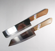 Set 2 KIWI 171+172 Chef's Kitchen Cook Utility 6.5'' Knives Cutlery Wood Hand
