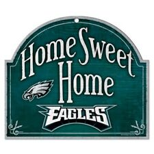 "NFL Philadelphia Eagles Wincraft 11"" x  10"" Wooden ""Home Sweet Home"" Sign NEW!"