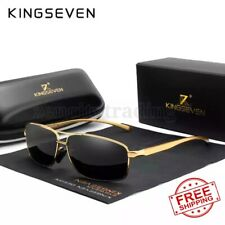 KINGSEVEN Vintage Retro Brand Designer Men Polarized Sunglasses Square Classic