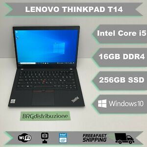 Notebook LENOVO THINKPAD T14 INTEL CORE i5 10310U 16GB RAM 256GB SSD GARANZIA