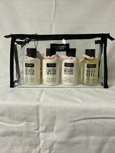 Victoria's Secret ACAI Cotton Ultimate Moisture to go 4 piece Set with Case New