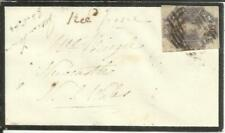 Tasmania SG#44-FOUR MARGINS(single frank)-BLACK BORDER MOURNING ENVELOPE