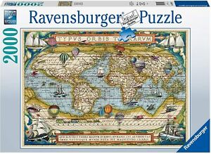 Jigsaw Puzzle - AROUND THE WORLD (Vintage Style) - 2000 Pieces