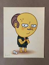 Mike Mitchell JLU STEROIDS Just Like Us Print Mr Burns Simpsons Matt Groening