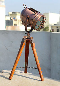 Designer Copper Desk Lamp Nautical Table Spotlight Home & Office Deco, Gift