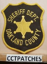 OAKLAND COUNTY, MICHIGAN SHERIFF (POLICE) SHOULDER PATCH MI