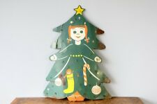 Vintage Antique 1950s Christmas Greeting Card Holder Large Metal Xmas Tree Decor