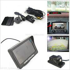 "Car 4.3"" LCD Rear View Monitor & Reverse Parking Camera With Radar Sensor System"