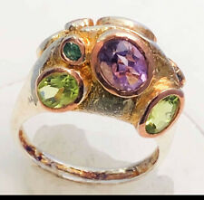 Ring Size 7 Natural Amethyst 925 Sterling Silver