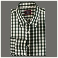 Untuckit Mens Shirt Size Medium Slim Fit Long SleevePlaid Button Front