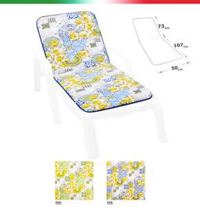 Cushion Sdeckchair Universal Soft Lemons Sun Bed Sitting Pool Garden Outer