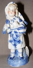ANTIQUE CONTA BOEHME GERMAN BLUE FAIRING FIGURINE OF A GIRL HARD PASTE PORCELAIN