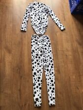 Dancing Dalmatian Dog 2 Piece Outfit Leotard & Leggings Black/white Size 2