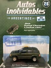 Jeep Gand Cherokee Limited (1997) Diecast 1:43 Argentina Modern Cars 80/90