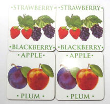 fruits du verger Pack de 4 sous-Verre