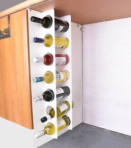 Kitchen Under Cabinet Space Filler Wine Rack 7 Bottle Holder Unit Shelf - White