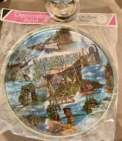 NEW Vintage 60's Wisconsin Dells Tourist Souvenir Tin Tray With Coasters