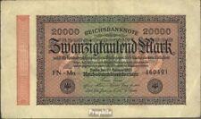 Empire Allemand Rosenbg: 84j, filigrane vagues usé (III) 1923 20.000 Mark