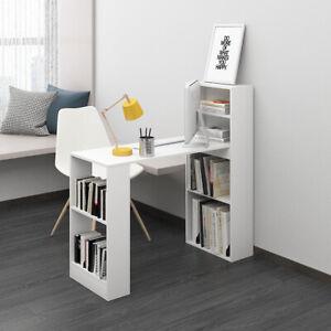 110cm Computer Desk  With Shelves Writing Study Table Office Corner Study Home U