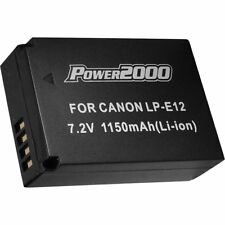 Power2000 LP-E12 Rechargeable Battery for Canon EOS SL1, Powershot SX-70 Camera