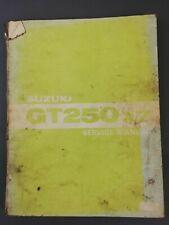 GENUINE SUZUKI GT250 X7 USED SERVICE MANUAL NICE PAGES