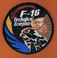 "ISRAEL IDF IAF 105FS SCORPION TECHNICAL F-16 SWIRL ""HOLOGRAM""  PATCH HOOK BACK"