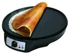 """1000W 12"""" ELECTRIC PANCAKE CREPE MAKER NON STICK LARGE PLATE FREE ACCESSORIES"""