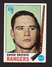 Arnie Brown New York Rangers 1969-70 Topps Hockey Card #34 EX/MT- NM