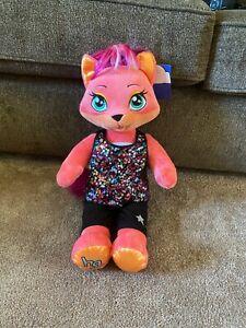 "Build A Bear Honey Girls HG Misha Kitty Dancer Pink Clothes Plush Toy 22"" NWT"