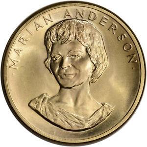 1980 US Gold (1/2 oz) American Commemorative Arts Medal - Marian Anderson - BU