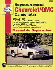 Spanish Language Chevrolet/GMC Camionetas Haynes 99041 Manual de Reparaci�n