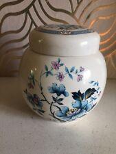Lovely VINTAGE Sadler Blue Lotus Blossom ginger jar