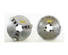 "BISON 12"" 3 Jaw Self Centering Manual Chuck Flat Mount 4.0"" Hole"
