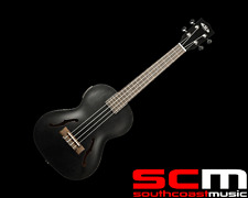 RRP$500 KALA Metallic Black Archtop Tenor Ukulele KA-JTE/MTB Acoustic Electric
