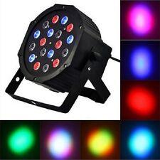 PAR RGB MULTICOLORE 18 LED X 1 WATT DMX WASH STROBO FARO DISCOTECA DJ FESTE LUCI