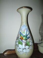 "Beautiful 12-1/2"" handpainted ""Bird"" Vase"